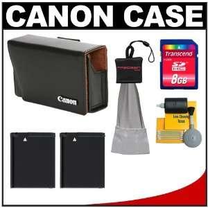 Canon PSC 900 Leather Digital Camera Case Bag + (2) NB 8L