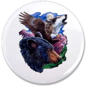 3.5 Button Bear Bald Eagle and Wolf: Everything Else