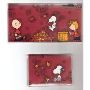 Cover Debit Set Made with Peanuts Snoopy Fall Fabric