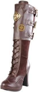 DEMONIA Crypto 302 Steampunk Victorian Womens Boots