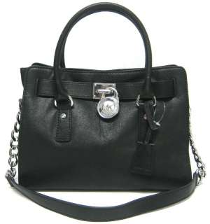 NEW MICHAEL Michael Kors Hamilton, Satchel, Black, NWT