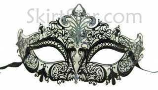 LASER CUT VENETIAN MASK masquerade costume BLACK NEW WEDDING ball