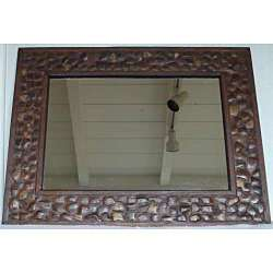 Large Coconut Shell Wall Mirror (Thailand)