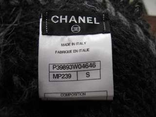 Fabulous Chanel Gray/Black Alpaca/Cashmere Hat/ Neck Collar Scarf