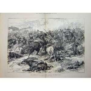 Battle Kaceljevo Charge Turkish Cavalry War Army 1877