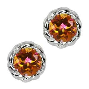 1.90 Ct Round Ecstasy Mystic Topaz Sterling Silver 4 prong