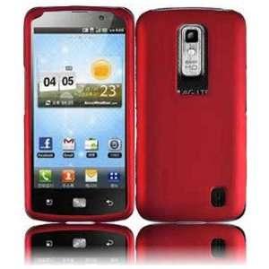 VMG LG Nitro HD Hard Case Cover 2 ITEM COMBO   DARK RED