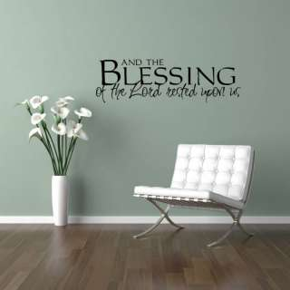 Blessing Lord Vinyl Wall Saying Decal Sticker 11x36