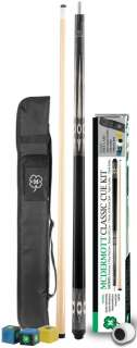 McDermott KIT4 7 Piece Classic Pool Cue Kit & Case 812351010498