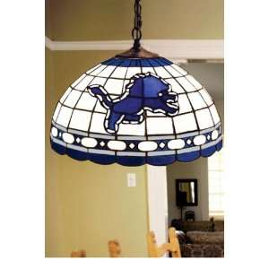 Team Logo Hanging Lamp 16hx16l Detroit Lions: Home Improvement
