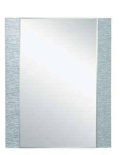 Rectangular Textured Edge Frameless Wall Mirror Modern