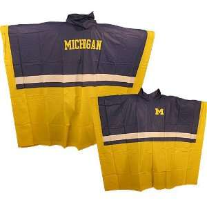 Michigan Wolverines Official Team Poncho Sports