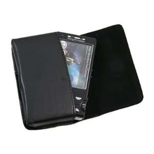 Pouch Case with Belt Loop for Sony Ericsson W995   Black Electronics