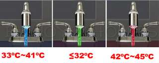 Water Faucet Color Change LED Light Temperature Sensor