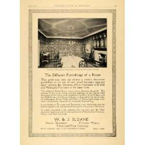 1913 Ad W. J. Sloane Interior Decorator Furniture Maker
