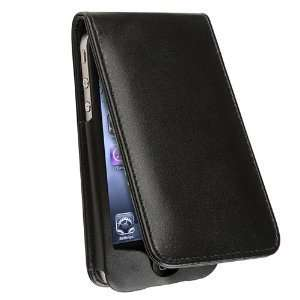 Vertical Leather Flip Case for iPhone 4   Black Cell
