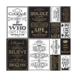 Graduate Die Cut Cardstock Stickers 12X12 2012 Quote; 3 Items/Order