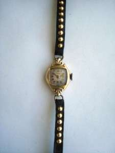 Vintage Parker Ladies 14k Gold Wrist Watch 17 Jewels Swiss serial