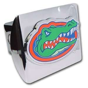 University of Florida Gators Bright Polished Chrome with Color Gator