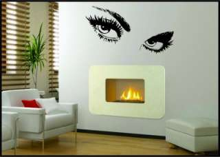 WALL ART SEXY GIANT EYES WALL STICKERS