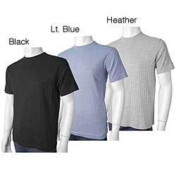 DKNY Mens Ribbed Crew Neck Short sleeve Shirt