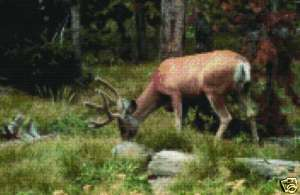 DEER #2   COUNTED CROSS STITCH PATTERN