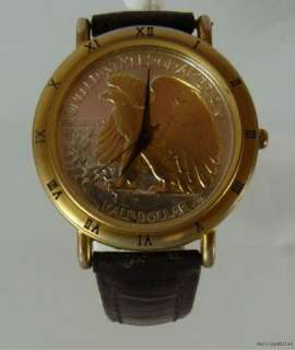 Vintage Waltham Half Dollar Mens Wristwatch Eagle