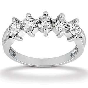 1.00 ct TTW ladys Round Cut Diamond Wedding Band Ring in