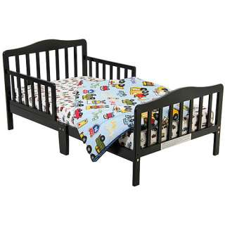 Dream on Me Classic Solid Wood Black Toddler Bed
