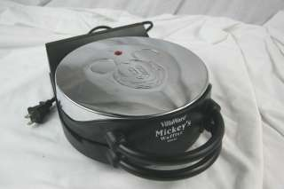 Vintage Disney Mickey Mouse Waffle Iron Excellent Condition