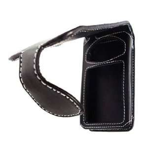 Durable Leather Flip Case for Zune 80/120 GB (Black)