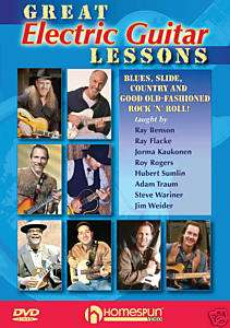 GREAT ELECTRIC GUITAR LESSONS   Rock/Blues HomeSpun DVD
