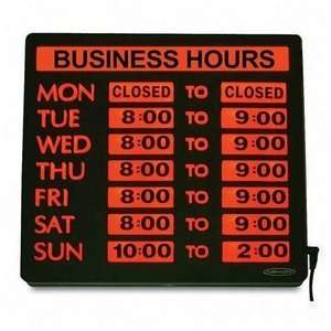 Open closed business hours sign 10 x 14 w numbers chain amp suction cup