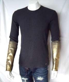 ARMANI EXCHANGE Foil Print Thermal Shirt/Top