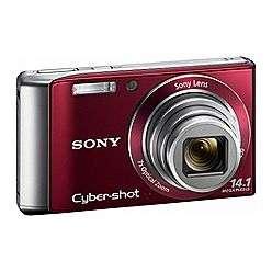 Sony Cyber Shot® 14.1 Megapixel 7X Optical Zoom Digital Camera   Red