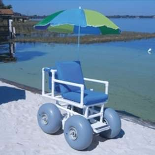Aqua Creek Beach Access Wheel Chair   4 Large Tires