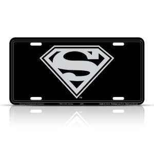 Superman Stamped License Plate Tag: Automotive