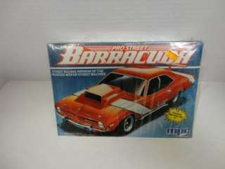 MPC SEALED ORIGINAL 1974 BARRACUDA PRO STREET MACHINE Model Kit
