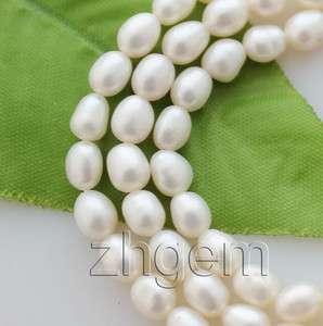 6mm natural white pearl loose beads gem 14.5long