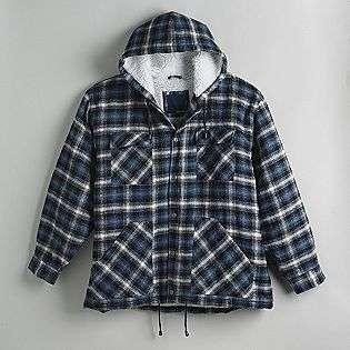 Big and Tall Hooded Shirt Jacket  Basic Editions Clothing Mens Big