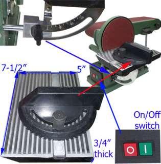 Heavy Duty 4 x 6 Belt Disc Sander Table Bench