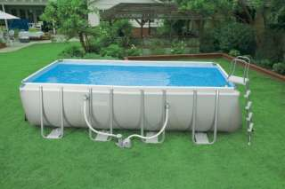 INTEX 18 x 9 x 52 Ultra Frame Rectangular Swimming Pool Complete