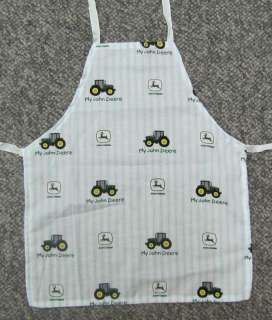 Cute new apron child toddler blue tractor John Deere