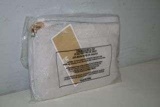 Brand New Michael Kors Leather Fulton MK Flat Wristlet Bag (Vanilla