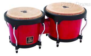 Latin Percussion LPA601 Aspire Wood Bongos Red Natural