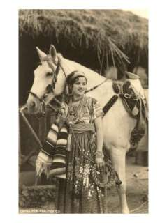 Poblana in Native Garb with Horse, Mexico Poster at AllPosters