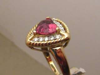 Gorgeous 2.5ct Rose Pink Heart VS Spinel & Diamond Ring 14k Gold