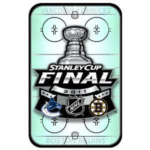 NHL 2011 Stanley Cup Playoffs 11 by 17 Inch Wood Sign