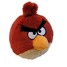 Birds 5 inch Plush with Sound   Red   Commonwealth Toys