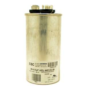 CAPACITOR 35+5 MFD 440 VAC ROUND DIRECT REPLACEMENT FOR YORK COLEMAN